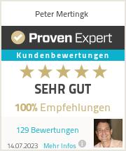 Erfahrungen & Bewertungen zu Peter Mertingk