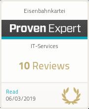 ProvenExpert-Profil von Eisenbahnkartei anzeigen