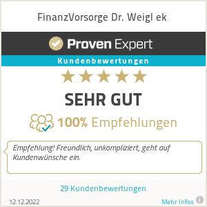 Erfahrungen & Bewertungen zu FinanzVorsorge Dr. Weigl ek