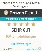 Erfahrungen & Bewertungen zu Tebben Consulting Social Media Beratung e.K.