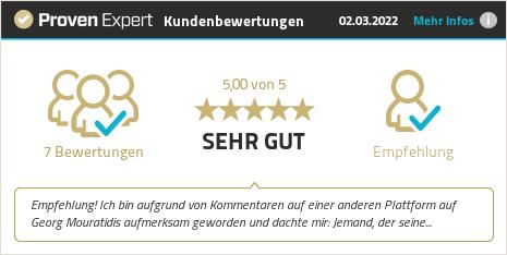 Kundenbewertungen & Erfahrungen zu Georg Mouratidis Kommunikation. Mehr Infos anzeigen.