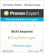 Erfahrungen & Bewertungen zu Christian Roller - Rückencamp