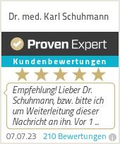 Erfahrungen & Bewertungen zu Dr. med. Karl Schuhmann