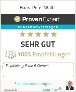 Erfahrungen & Bewertungen zu Hans-Peter Wolff
