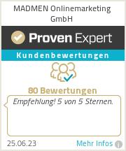 Erfahrungen & Bewertungen zu MADMEN Onlinemarketing GmbH