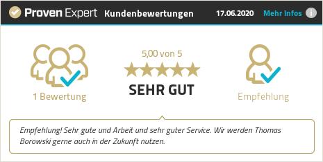 Kundenbewertungen & Erfahrungen zu Thomas Borowski GmbH. Mehr Infos anzeigen.