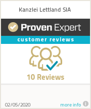 Ratings & reviews for Kanzlei Lettland SIA