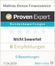 Erfahrungen & Bewertungen zu Mathias Kirmse Finanzservice