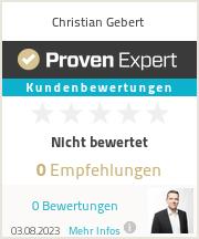 Erfahrungen & Bewertungen zu Christian Gebert