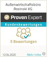 Erfahrungen & Bewertungen zu Außenwirtschaftsbüro Rosinski KG