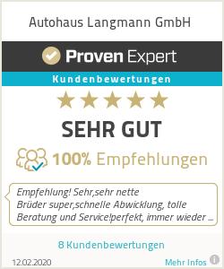 Erfahrungen & Bewertungen zu Autohaus Langmann GmbH
