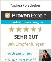 Erfahrungen & Bewertungen zu Andrea Forsthuber