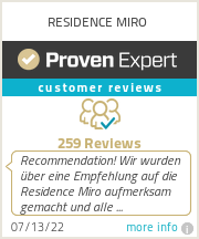 Ratings & reviews for RESIDENCE MIRO