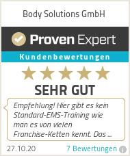 Erfahrungen & Bewertungen zu Body Solutions GmbH