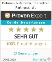 Erfahrungen & Bewertungen zu Oehmen & Reitsma, Übersetzer Partnerschaft