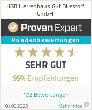 Erfahrungen & Bewertungen zu HGB Herrenhaus Gut Bliestorf GmbH