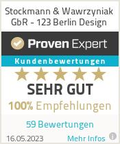 Erfahrungen & Bewertungen zu Stockmann & Wawrzyniak GbR - 123 Berlin Design