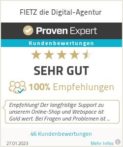 Erfahrungen & Bewertungen zu FIETZ die Digital-Agentur