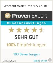 Erfahrungen & Bewertungen zu Wort für Wort GmbH & Co. KG