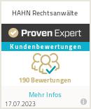 Erfahrungen & Bewertungen zu HAHN Rechtsanwälte