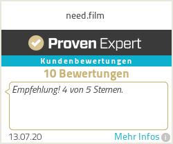 Erfahrungen & Bewertungen zu need.film