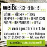 WeißGESCHREINERT Bau + Möbel Schreinerei Weiß