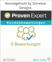 Erfahrungen & Bewertungen zu Heimatgefuehl by Schreiber Designs