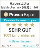Erfahrungen & Bewertungen zu Halberstädter Elektrotechnik (HET) GmbH