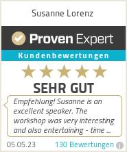 Erfahrungen & Bewertungen zu Susanne Lorenz