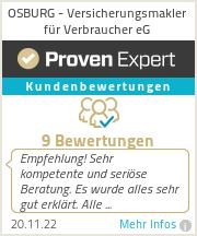 Erfahrungen & Bewertungen zu OSBURG - Versicherungsmakler für Verbraucher eG