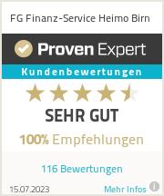 Erfahrungen & Bewertungen zu FG Finanz-Service Direktion Birn