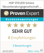Erfahrungen & Bewertungen zu HSP STEUER Schleiz Steuerberatungsgesellschaft mbH