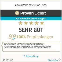 Erfahrungen & Bewertungen zu Anwaltskanzlei Bodusch