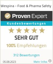 Erfahrungen & Bewertungen zu Wespina - Food & Pharma Safety