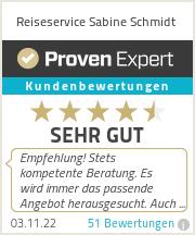 Erfahrungen & Bewertungen zu Reiseservice Sabine Schmidt