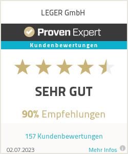 Erfahrungen & Bewertungen zu LEGER GmbH