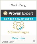 Erfahrungen & Bewertungen zu Moritz Emig