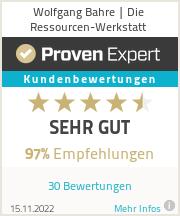 Erfahrungen & Bewertungen zu Wolfgang Bahre | Die Ressourcen-Werkstatt
