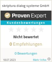 Erfahrungen & Bewertungen zu skriptura dialog systeme GmbH
