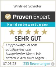 Erfahrungen & Bewertungen zu Winfried Schröter