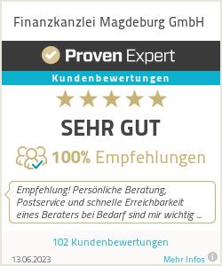 Erfahrungen & Bewertungen zu Finanzkanzlei Magdeburg GmbH