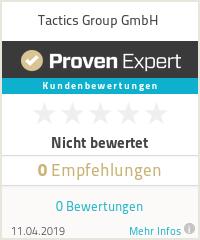 Erfahrungen & Bewertungen zu Tactics Group GmbH