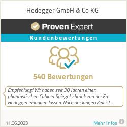 Erfahrungen & Bewertungen zu Hedegger GmbH & Co KG