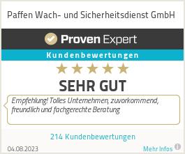 Erfahrungen & Bewertungen zu Paffen Wach- und Sicherheitsdienst GmbH