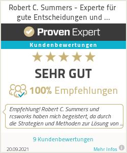 Erfahrungen & Bewertungen zu Robert C. Summers - Experte für gute Entscheidungen und nachhaltige Lösungen