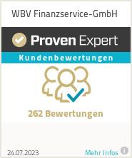 Erfahrungen & Bewertungen zu WBV Finanzservice-GmbH