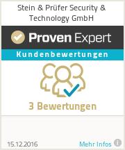 Erfahrungen & Bewertungen zu Stein & Prüfer Security & Technology GmbH
