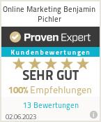 Erfahrungen & Bewertungen zu Online Marketing Benjamin Pichler