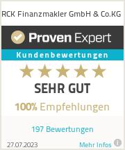 Erfahrungen & Bewertungen zu RCK Finanzmakler GmbH & Co.KG