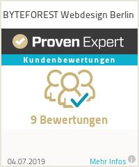 Erfahrungen & Bewertungen zu BYTEFOREST Webdesign Berlin